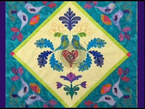Stabilizing The Quilt Block For Machine Embroidery Applique Youtube