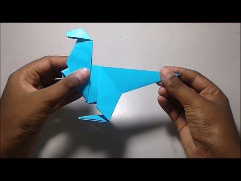 Paper dinosaur - DIY