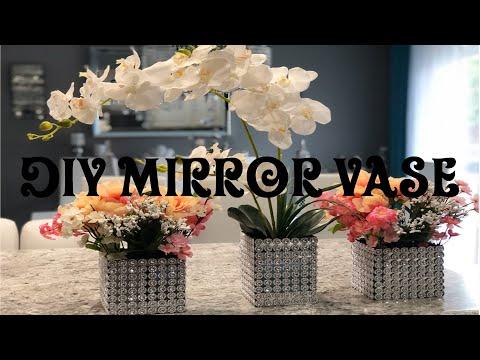 DIY Dollar Tree Mirror Vase | sharaxaad aad ufudud | Amal Ahmed |
