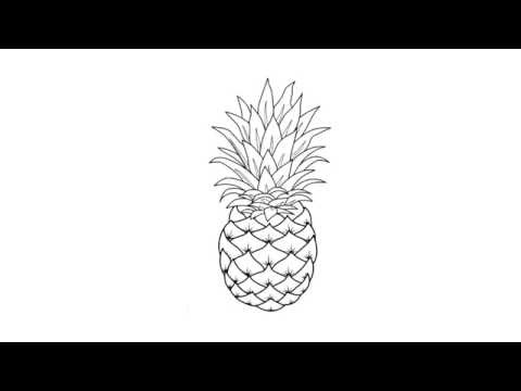 How to draw a pineapple c mo dibujar una pi a comment dessiner un ananas - Comment dessiner un ananas ...