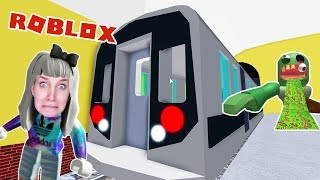 Roblox: FROM U-BAHN EXPERIENCE - Nina flees zombie invasion underground ESCAPE THE SUBWAY OBBY