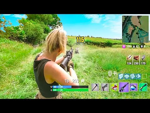 Fortnite Battle Royale in Real Life!