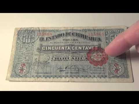 1914 50 Centavos note from El Estado De Chihuahua