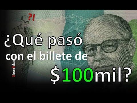 ¿Qué pasó con el billete de 100 mil pesos?