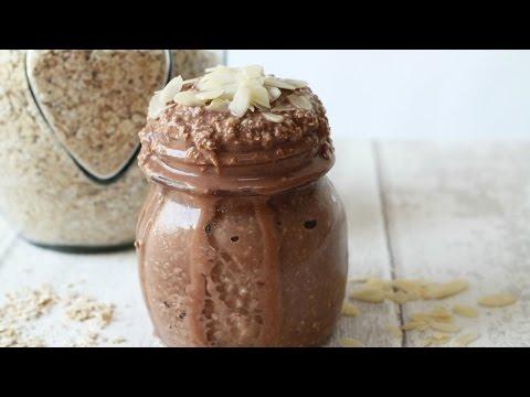Chocolate Banana Overnight Oats Recipe | Healthy Breakfast Ideas for Kids