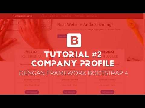 Membuat Template Company Profile Dengan BOOTSTRAP #02