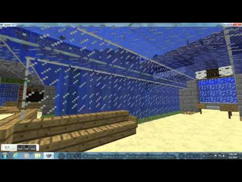 how to make a aqurium in minecraft