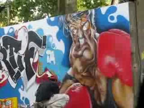 graffiti esprit sportif en france