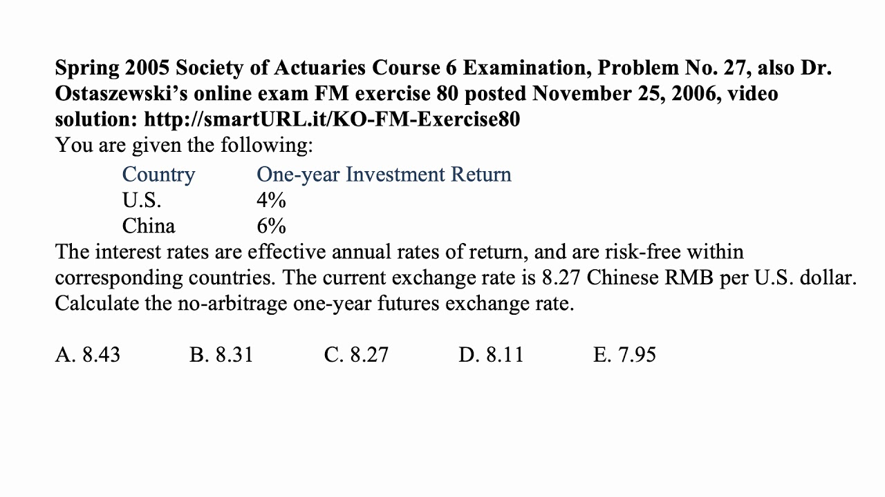 Exam IFM exercise for February 4, 2019
