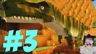 LP. Лаки Майнкрафт #3 Динозавр хочет сломать дом! / Выживание с модами в майнкрафт