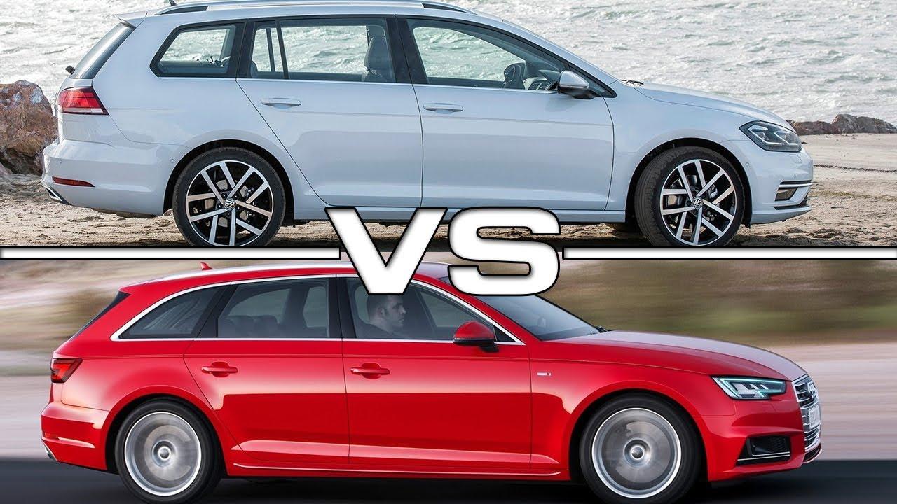 2018 Volkswagen Golf Variant Vs 2017 Audi A4 Avant Youtube