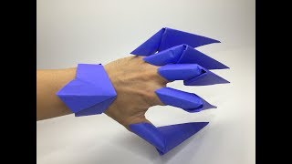 Origami Paper Claws & Diaṁond Shaped Bracelet #2 A to Z DIY ORIGAMI PAPER CRAFT Small