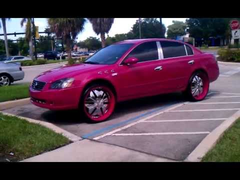 Pink Nissan Altima on 24s - YouTube