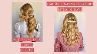 3 MODNE FRYZURY BY @DA_MIDAYS - FRYZJERKĘ GWIAZD - CZ.II Naturalne fale, perłowe spinki i chustka