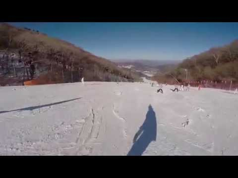 Snowboarding @ Muju Resort, Korea