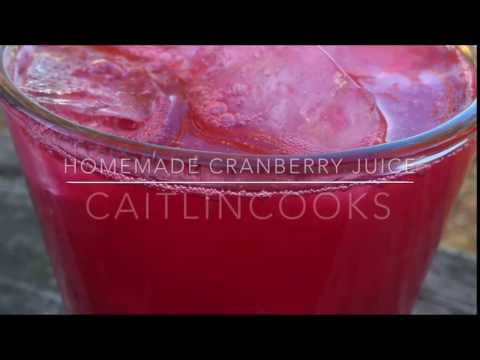 Fall Drinks | Homemade Cranberry Juice - packed with antioxidants!
