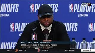Dwyane Wade -- Miami Heat at Philadelphia 76ers Game 2 04/16/2018