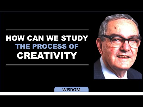 Herbert Simon on How we can study the process of creativity