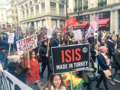 UK: Thousands march in London to condemn 'Turkish state war' on Kurds