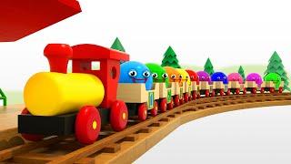Мультик для малышей - Учим Цвета и Цифры с паровозиком Тино