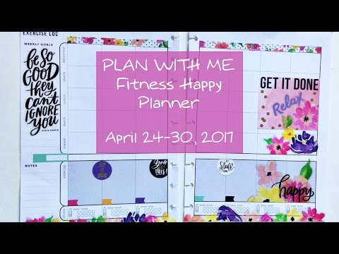 Set Up & Plan With Me MAMBI Fitness Planner: April 24-30