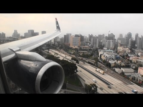Awesome HD 757 Approach and Landing in San Diego!!!
