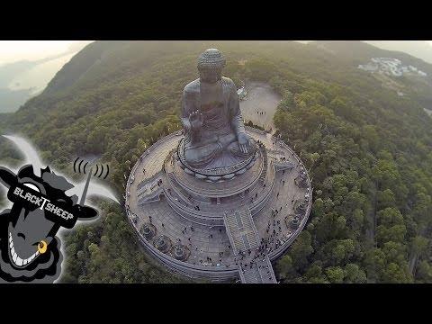 Drohnenflug über Hong Kong