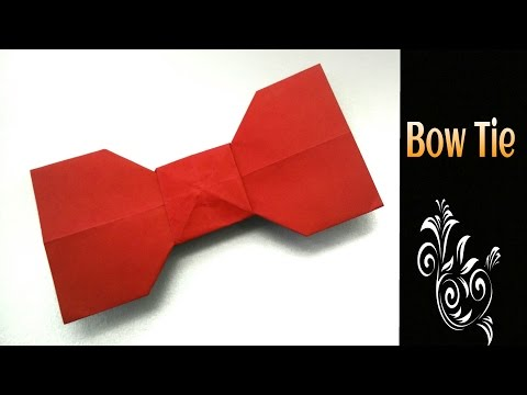 """Origami Tutorial to make an easy Paper """" Bow Tie🎀"""" - Father's day Special"""