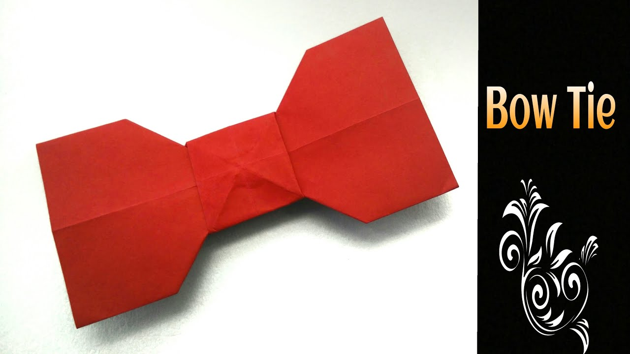 Origami Tutorial To Make An Easy Paper Bow Tie