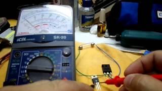Testando Transistor Mosfet!!