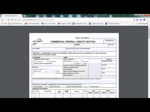 Accord Form 126 Commercial Form Youtube