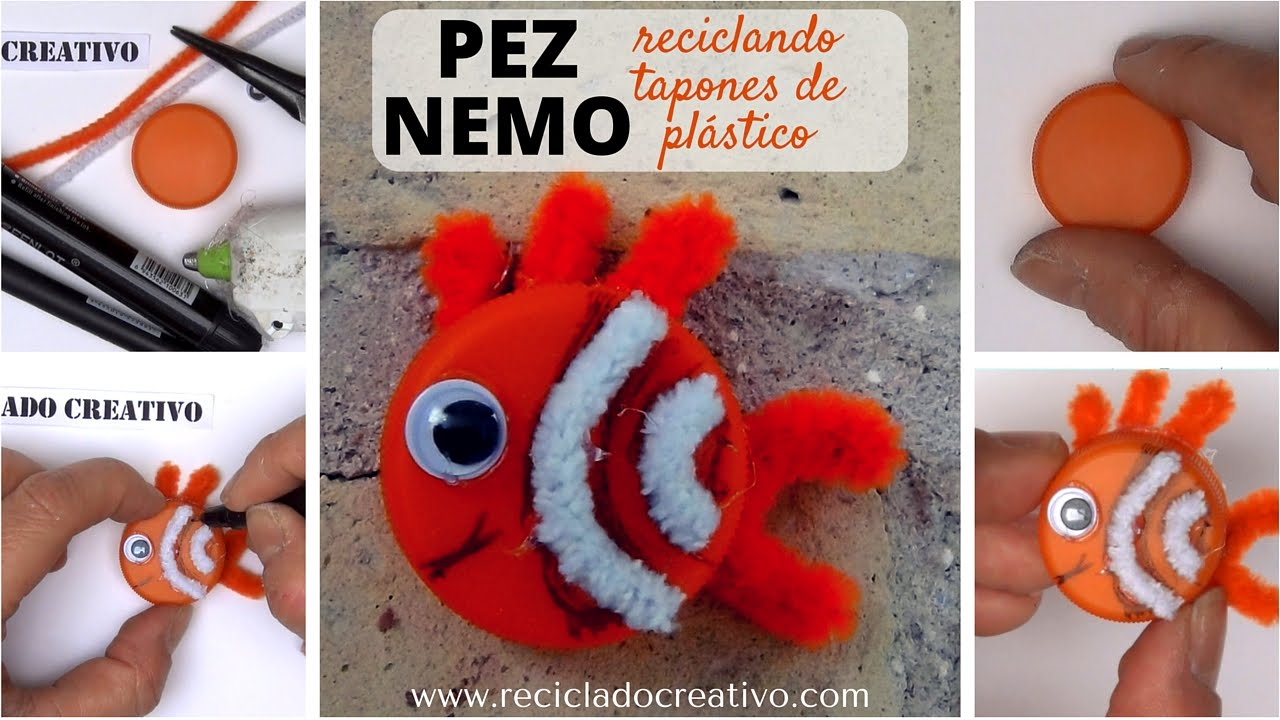 C 243 Mo Hacer Un Pez Nemo Manualidades Para Ni 241 Os Con Tapones