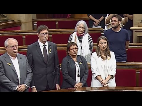 Catalan Republic: Regional parliament sings new national anthem after establishing an independent Ca
