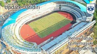 Progres Renovasi Stadion Jatidiri Semarang tahap IV memasuki bagian akhir.