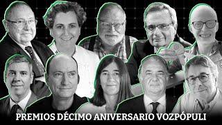 Estos son los 10 premios Décimo Aniversario de Vozpópuli