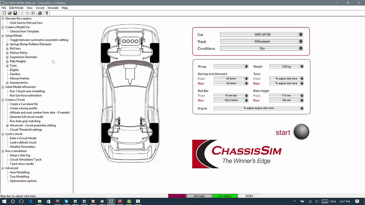 Front Wheel Drive - It's Dynamics and Tuning using ChassisSim