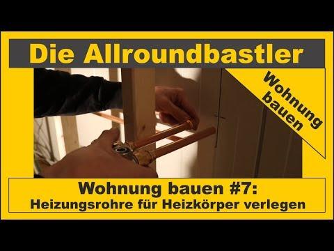 Wohnung bauen #7 - Heizungsrohre für Heizkörper verlegen Teil 1 from YouTube · Duration:  24 minutes 58 seconds