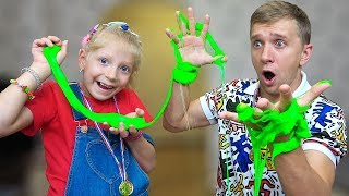 Daddy and Milana Funny Family Play Slime Games