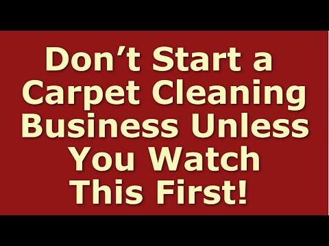 How To Start A Carpet Cleaning Business | Including Free Carpet Cleaning Business Plan Template