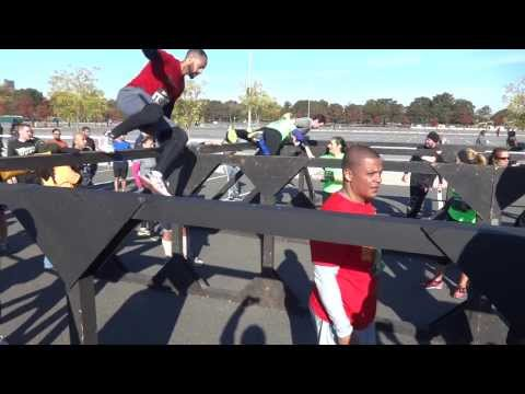 NYC Urbanathlon 2013 - Marine Hurdles