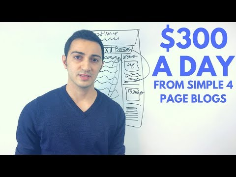 How to Make $300/day in Affiliate Marketing From 4 Page Review Blogs
