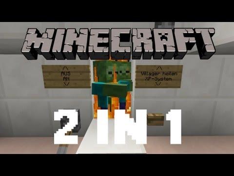 Minecraft 1.8 Tutorial - Zombie Spawner XP-Grinder/Heil-System ᴴᴰ