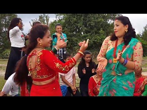शुरु भयो तिजको नाच गान    Teej Dance in Garjura 2074    Gulmi    HD thumbnail