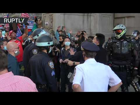 Pro-Trump demo disrupted by counter protesters in NYC