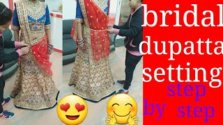 How to wear bridal lehenga with different style(in hindi)