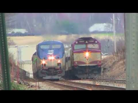 A TRAIN RACE, Freights, Amtrak, MBTA, & The Screamers FINAL Hour!!! Wonderful Rush Hour Action!!!