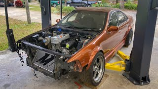Turbo K24 Nissan Cefiro build pt.15 The fab work begins.
