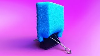20 CLEVER LIFE HACKS WITH SPONGES