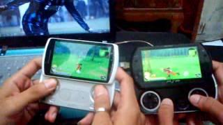 Xperia Play VS PSP Go, Tested game Naruto shippuden : Akatsuki Rising