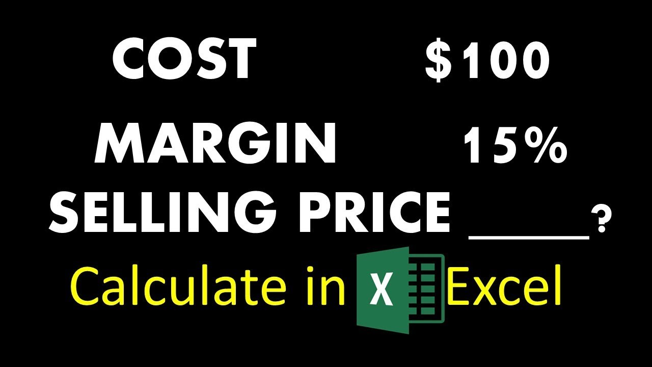 How to find selling price with cost and profit margin only